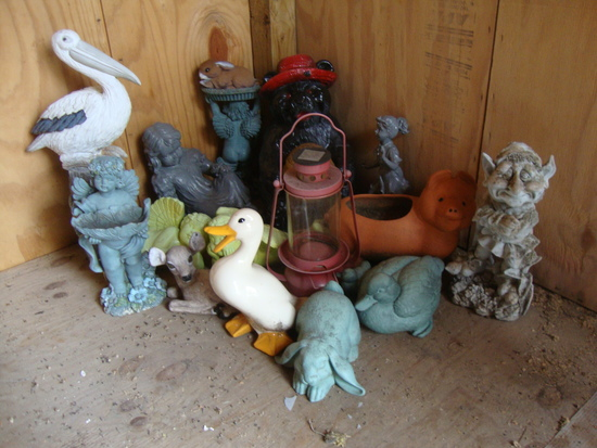 Group of Lawn Decorations/Figurines