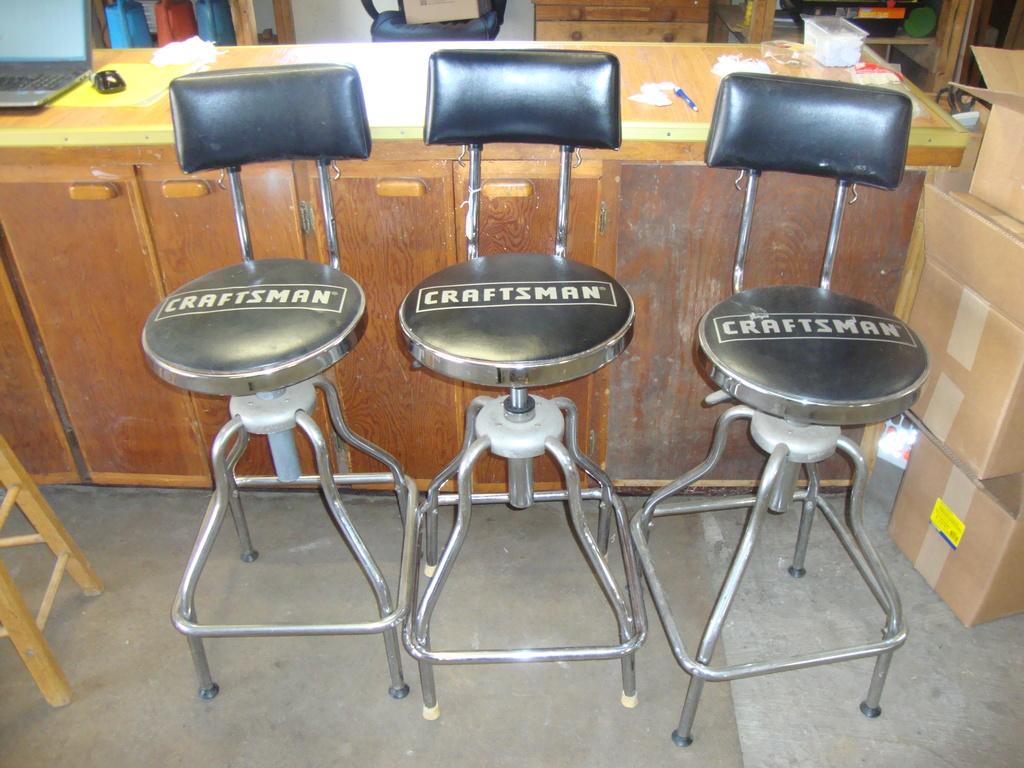 Three Craftsman Shop/Bar Stools