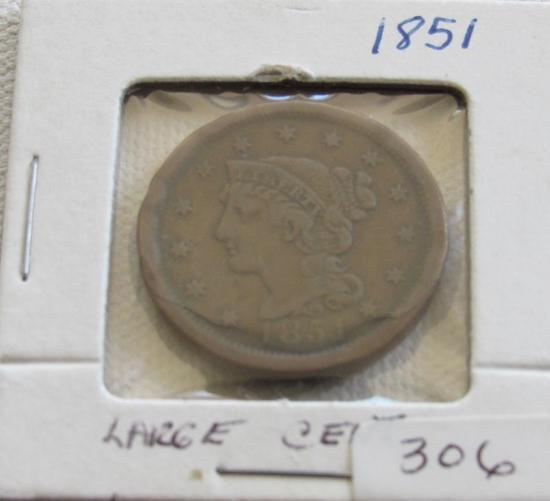 1851 Large Cent