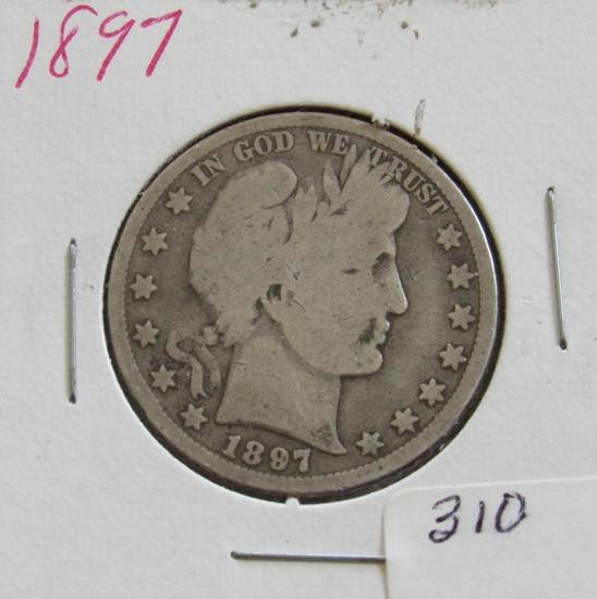1897 Barber or Liberty Head Half Dollar