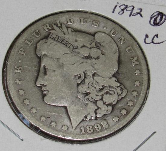 1892 CC Morgan Silver Dollar