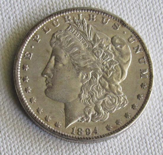 1894 O Morgan Silver Dollar