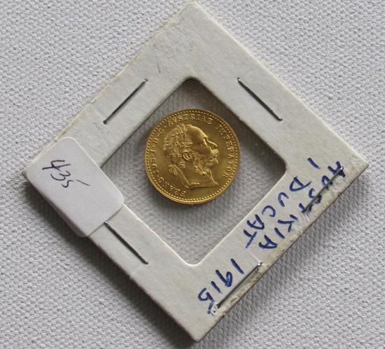 1915 Gold 1 Ducat Austrian Gold