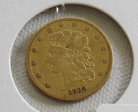1835 $5.00 United States Gold Coin