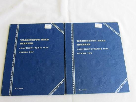 Partial Whitman Coin Folder 1 & 2 Washington Head Quarters including 1934, 36 D, 38S, 40D, 43, 43 S