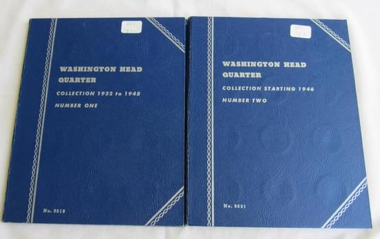 Whitman Coin Folders Washington Silver Quarters (missing 1932D only), including 32 S, 36D, 37, 42D