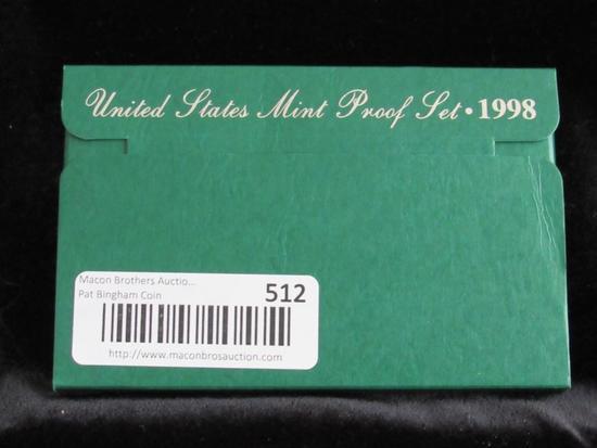 United States Mint Proof Set 1998