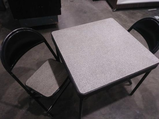 (3) PIECE CHILDS CARD TABLE W/CHAIRS