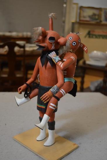Mudhead and Tuhaui Kachina Dolls