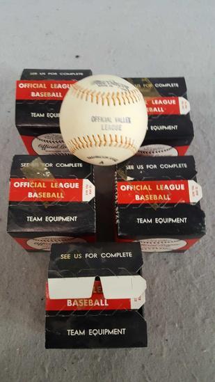 (5) Official League MacGregor Baseballs
