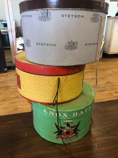 Lot of (3) Hat Boxes
