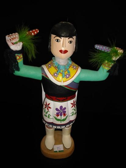 (1) Unkown Kachina Girl Holding Corn