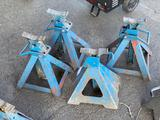 (4) 5-Ton Capacity Jack Stands