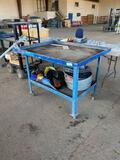 Metal Recessed Top Shop Cart w/ Drain For Transmission Rebuilds Etc.