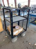 Pneumatic Wheel 2-Shelf Cart