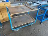 2-Shelf Pneumatic Wheel Shop Cart