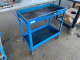 Recessed Wells Metal Shop Cart