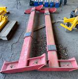 Above ground hoist components (red), see photos