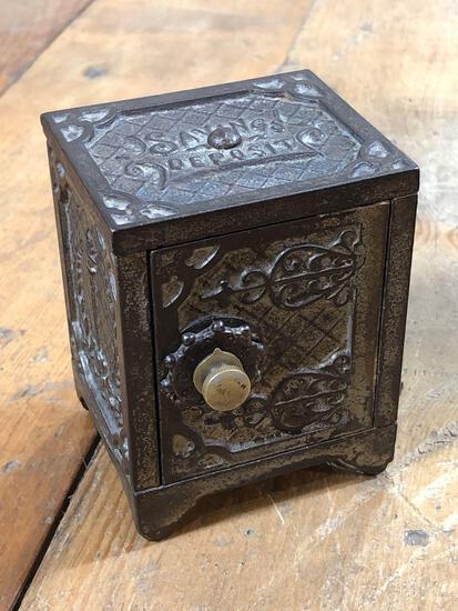 Vintage Cast Iron Kenton Brand Mini Safe