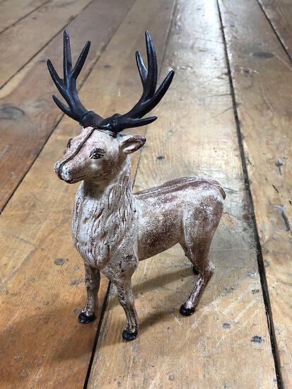 Vintage Reindeer or Elk Cast Iron Bank
