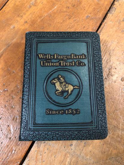 Vintage 1923 Wells Fargo Book Bank
