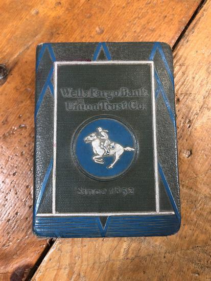 Vintage Wells Fargo Book Bank Unknown Year