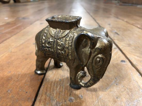 Cast Iron Elephant Still Bank