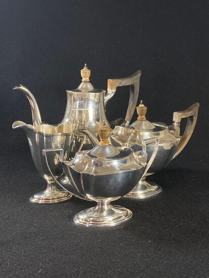 Sterling Silver Blair and Crawford Antique 4-Piece Tea and Coffee Service