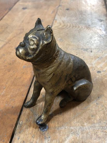 Vintage Bull Dog Cast Iron Bank