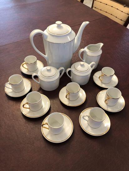 Tunisie Porcelain Coffee Set