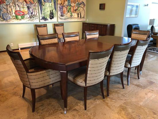 Mid Century Modern Walt Disney Signature Drexel Heritage Dining Table w/ (10) Chairs & Sideboard