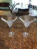 Pair Of Waterford Crystal Martini Glasses