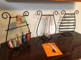 Assortment Of Costume Jewelry w/ Stands