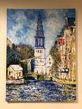 Annette Bayer Acrylic on Canvas Painting, Copy of Monet
