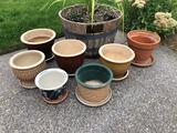 Assortment Of Ceramic Planters