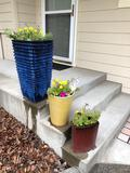 (3) Assorted Planters