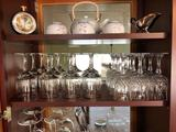 Shelf Of Assorted Stemware