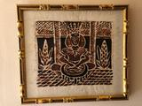 Framed Tappa Cloth Depicting Samoan 14