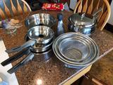 Pots, Pans, Cheese Grater, & Colander