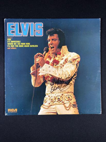 "Elvis Presley ""Elvis"" Autographed Album"