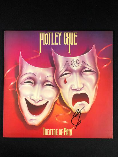 "Motley Crue ""Theater Of Pain"" Autographed Album by Vince Neil"