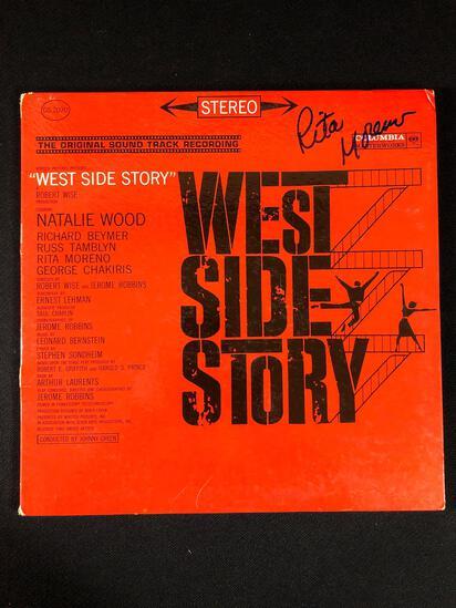 """""""West Side Story"""" Original Sound Track Autographed Album Signed by Rita Moreno"""