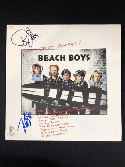 "Beach Boys ""Wow! Great Concert!"" Autographed Album signed by Bruce Johnson and Mike Love"