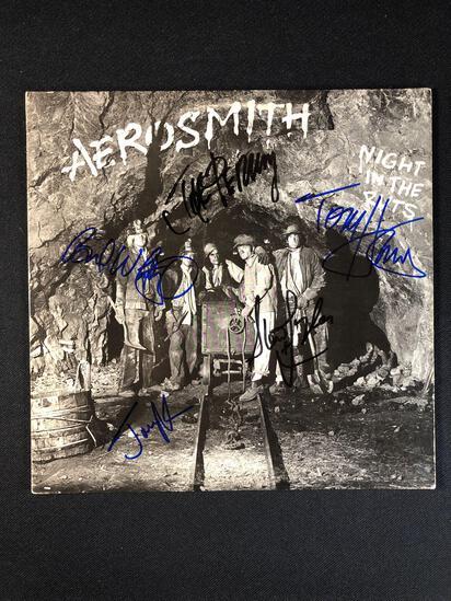 "Aerosmith ""Night In The Ruts"" Autographed Album"
