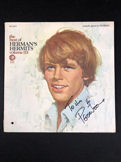 "Herman's Hermits ""The Best of Herman's Hermits Vol. lll"" Autographed Album Signed by Peter Noone"