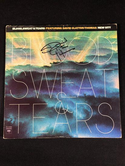 "Blood Sweat and Tears ""New City"" Autographed Album by David Clayton-Thomas"