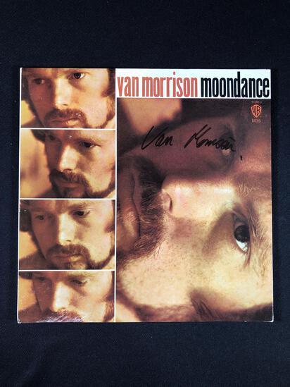 "Van Morrison ""Moon Dance"" Autographed Album"