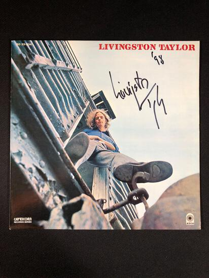 Livingston Taylor Self Titled SD 33-334 Autographed Album 98'