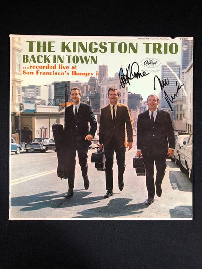 "The Kingston Trio ""Back In Town Recorded Live At San Francisco's Hungry !"" Autographed Album"