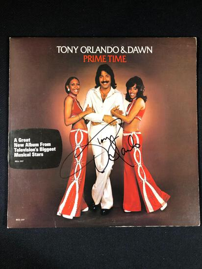 "Tony Orlando & Dawn ""Prime Time"" Autographed Album"